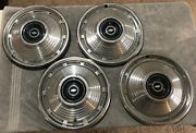 Set Of Four 1967 Chevrolet Chevy Ii 14 Chrome Hubcaps