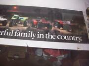 The Most Powerful Family In Country Kawasaki Poster Used 24x77 Po-353
