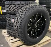 20x10 Ion 141 Black Wheels 35 Axt2 At Tire Package 8x170 Ford Excursion F250