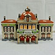 Department 56 Dickens' Village Series Victoria Station 55743 With Light Cord