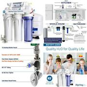 Rcc7 5-stage Under Sink Reverse Osmosis Drinking Water Filtration System With Qu