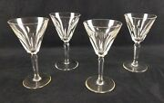 Four Waterford Crystal Water Goblets Sheila Cut D