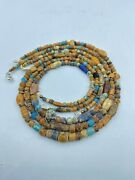 Lot Of Vintage Antique Old Glass Beads Jewelry Necklaces From Ancient Roman's