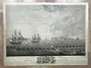 American Revolution Battle Of La Martinique Dated 1790 Very Large Antique View