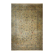 11and03910x15and0396 As Is Antique Parsianhand Knotted Wool Kashaan Area Rug Celadon