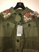 Army Green Crystal - Embellished Alexander Mcqueen Parka. Cost Andpound3325.00 Sold Lit