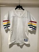 Vintage 80s Champion Authentic Pro Bowl Hawaii Football Jersey Sz 52 Made In Usa