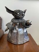 The Mandalorian Baby Yoda The Child Star Wars Figurine Sculpture One Of A Kind