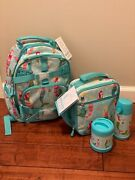 Pottery Barn Kids Mackenzie Small Backpack, Lunch Bag, Cup, Food Thermos Nwt