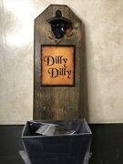 Dilly Dilly Bottle Opener And Cap Catcher Made Of Solid Wood Cast Iron