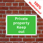 Private Property Keep Out Sign Or Self Adhesive Vinyl Sticker Coun0058 Durable