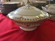 Gorgeous Covered Tureen Serving Dish Pre-1940and039s Schumann Bavaria Bridal Rose