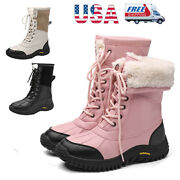 Womenand039s Insulated Warm Faux Fur Lined Comfort Waterproof Mid Calf Snow Boots Us