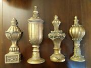 Lot - 4 Vintage Gold Resin/plastic Wall Hanging Art Victorian Syroco-style