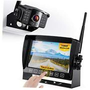 """Wireless Backup Camera With 7"""" Dvr Monitor For Rv Trailer, 1080p Fhd Back Up"""