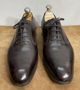 Bespoke John Lobb Leather Oxford Brown Dress Shoes Menandrsquos 10.5 Made In England