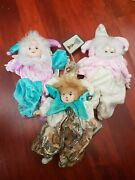 Vintage Classic Treasures Porcelain Clown Doll Collection Of 3 Dolls 8