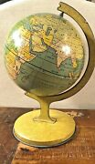 Vintage 1930and039s J Chen Toy Lithographed Spinning Globe