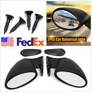 Left And Right California Classic Style Car Door Side Mirror Hot Rod Vintage Black