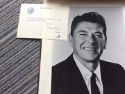 Autograph Original Picture Of Governor Ronald Reagan With Certificate Of Authent