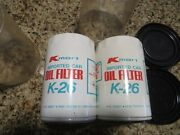 2 X K Mart Oil Filter K-26 New Unused Old Stock Imported Car Vintage Collectible