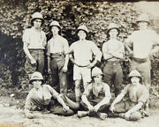Vintage 1918 Manly Brits Expedition Military Pith Helmets Handsome Men Gay Rppc