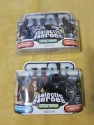 Star Wars Galactic Heroes Obi Wan And Darth Vader Mini Figures And Stormtroopers