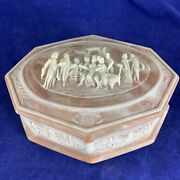 Mint Vintage Switzerland Reuge Usa Handcrafted Incolay Andreg Stone Music Jewelry Box