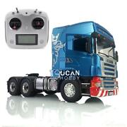 Light Sound Painted Scania Rc 1/14 Lesu Rc 64 Metal Chassis Tractor Truck Radio