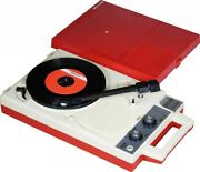 Anabas Audio Portable Record Player Red Andtimes White Vintage Model Jp Orginali Item