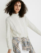 Madewell Grenville Cableknit Sweater Antique Cream