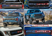 Rear American Flag Raised Letters Front Grill Set For F150 Raptor 2018 2019 2020