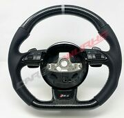 Audi Rs4 Rs6 Rs7 Sq5 B8 C7 Carbon Fibre Steering Wheel - Customisable Options