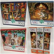 Lot Of 3, Jigsaw Puzzles Buffalo Games 300 Pc Ea Box, For Cat Lovers
