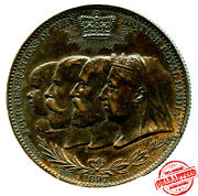 1897 Great Britian-four Generations Of The British Royal Family Medallion