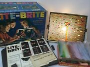 Vintage Original 1967 Lite-brite Toy 5455 W/pegs And Picture Refill Works Great
