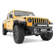 Stubby Hd Front Bumper+17 Led Mount+fog Light Hole For 20-21 Jeep Gladiator Jt