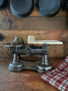 Rare Cast Iron Balance Tray Scale Grocery Scale Kitchen Vintage Heavy
