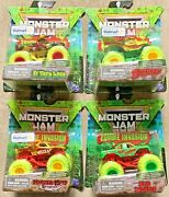 Spin Master 2021 Monster Jam Zombie Invasion 20125478 164 Scale Set Of 4