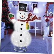 6ft Christmas Snowman 200 Led Warm White With Twinkle Lights Foldable/pop Up