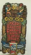 Vintage Old Style Beer Sign W/german Men 24h 12w Rare Don't Miss It