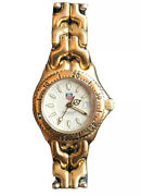 Tag Heuer Womenandrsquos Watch 18k Gold Divers-200 Meters Swiss Made/italian Design