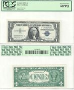 1957 B 1 Silver Certificate Error Mismatched Serial Numbers Fr 1621 Pcgs 68ppq