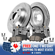 Rear Brake Rotors And Calipers + Ceramic Pads For 2012 - 2017 2018 Dodge Journey