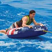 Airhead Stars And Stripes Inflatable Boat Towable Rider 57 Sportsstuff 53-4310