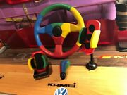 Vw Harlequin Jet/momo Steering Wheel With Knob, Cup Andphone Holder Benetton L,