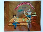 Skeletons Day Of The Dead Pulques Bar Drinking Mexican Folk Art Tin Sign