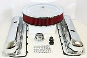 Oldsmobile Chrome Engine Dress Up Kit Valve Covers Red Washable Air Cleaner 455