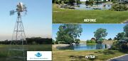 Professional Windmill Pond Aeration Kits 12-20and039 Tall 0-2 Acre Ponds 5yr Warranty