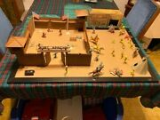 Fort Apache Playset By Marx Toy Company Vintage 1960andrsquos Cowboys Indians